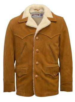 359 - Split Cowhide Leather Rancher Coat (Tobacco)