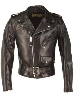618HH - Horsehide Perfecto Leather Jacket  (Black)