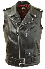 "626V - Midweight cowhide ""Perfecto"" motorcycle vest"