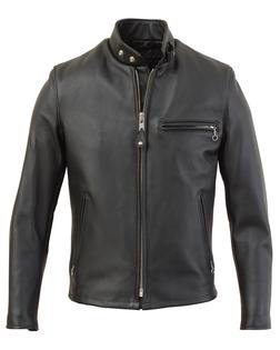 641 - Single Rider Steerhide Leather Motorcycle Jacket