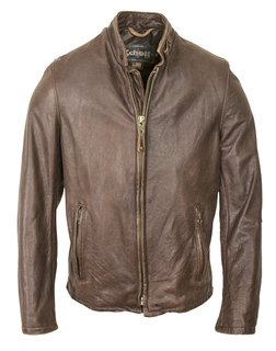 654VN - Vintaged Cowhide Café Racer Leather Jacket