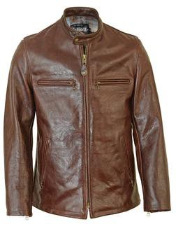 660 - Fitted Cafe Racer Jacket (Brown)