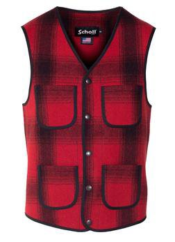 745V - MEN'S WOOL PLAID VEST (Checks)