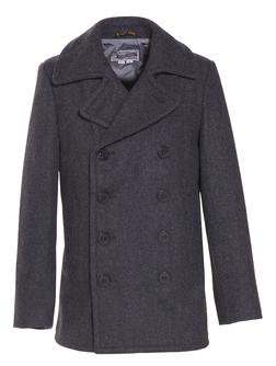 751 - 24 oz. Slim Fit Fashion Pea Coat (Dark Oxford Grey)