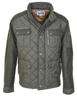 "91471 - 28"" Diamond Quilted Coated Nylon Field Jacket (Olive)"