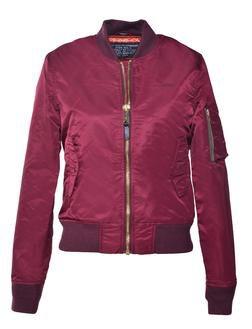 Bordeaux Women's Flight Jacket