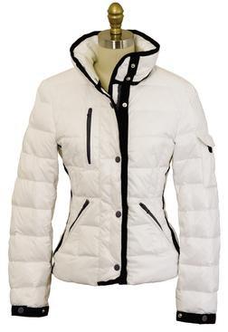 9391DW - Women's Down Filled Hip Length Ski Jacket (White)