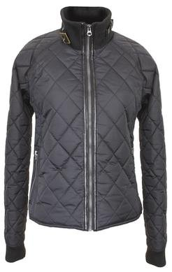 "9423W - 21"" Coated Nylon Diamond Quilted Fitted Jacket (Black)"