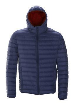 9515D - Nylon ultra light down filled  Silverado Jacket with hood (Navy)