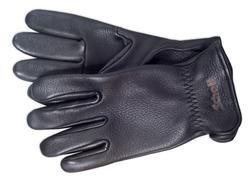 A103 - Deerskin Leather Gloves (Black)