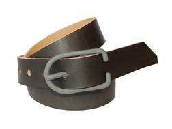BELT1 - Hand Worked Veg Tanned Horween Leather Belt (Grey)