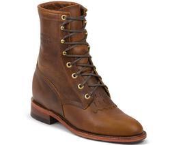 "W65TR - Chippewa Women's 8"" Lacer Boots (Tan)"