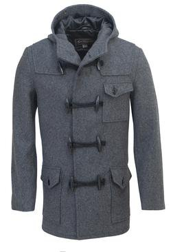DU747 - Men's Short Duffle Coat with Hood