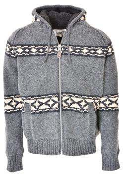 """F1415 - 27"""" Hooded Sweater Jacket (Charcoal)"""