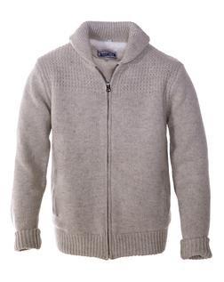 F1522 - Shawl Collar Sweater Jacket (Beige)
