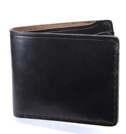 HH32 - Horween Horsehide 6 Card Wallet (Black)