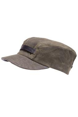 K3109 - Work cap with leather trim