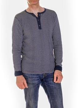 K502 - Men's Henley Shirt (Navy)
