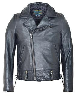 "P6421 - Chips ""California Highway Patrol"" Leather Jacket in Black"