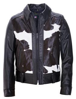 "P6422 - ""El Camino"" 50's West Coast Leather Biker Jacket (Black)"
