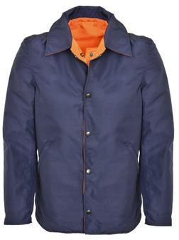 P8450 - Reversible Rain Jacket Worn by Security and Safety (Navy)