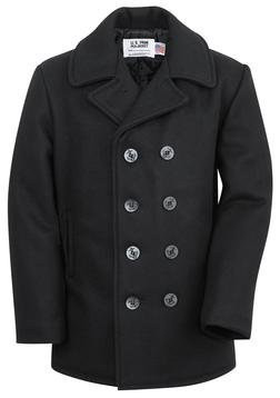 740 - Classic Melton Wool Navy Pea Coat