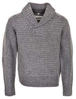 SW1372 - Wool Blend Heavy Weight ¼ Pullover Waffle Knit Sweater