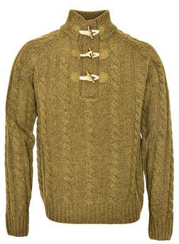 """SW1420 - 26"""" Toggle Pullover Sweater (Olive)"""
