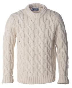 Offwhite Cable-Knit Sweater