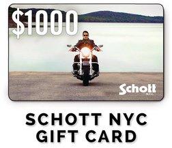GC1000 - $1000 Schott NYC Gift Card