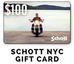 GC100 - $100 Schott NYC Gift Card
