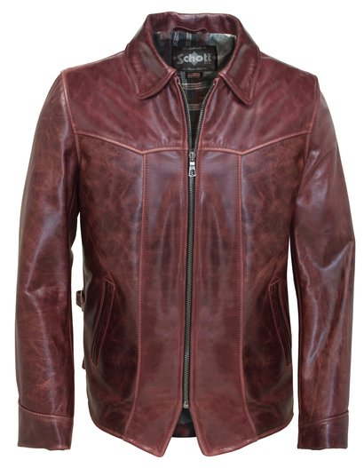 662 - Cowhide Fitted Retro Jacket