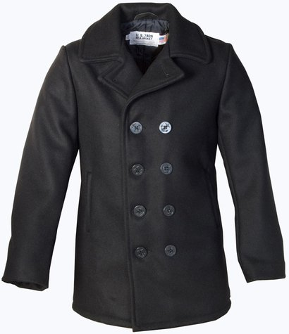 Long Pea Coat (front)