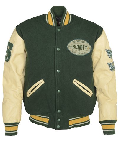 "71270 - 27"" Vintaged wool blend varsity jacket"